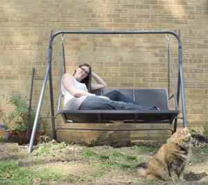 ember cat swing garden spring