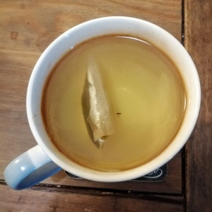 green tea with fly in it